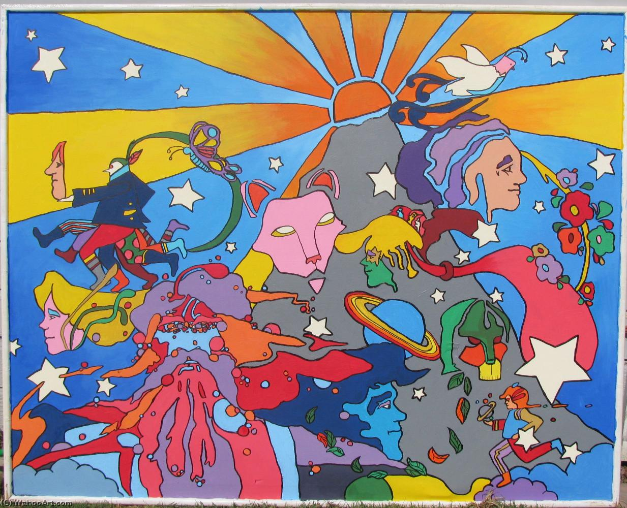famous painting Watermark of Peter Max