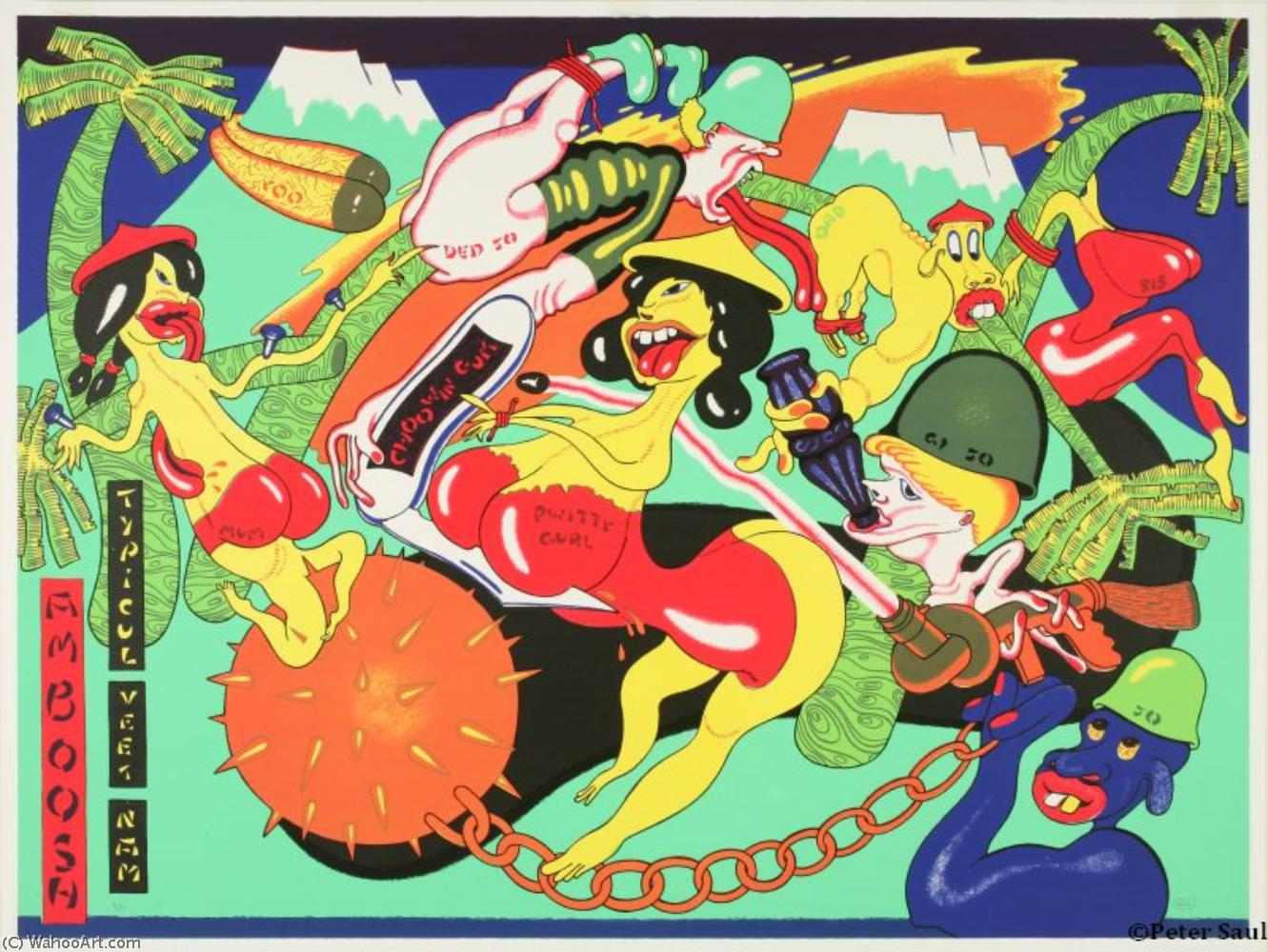famous painting Amboosh of Peter Saul