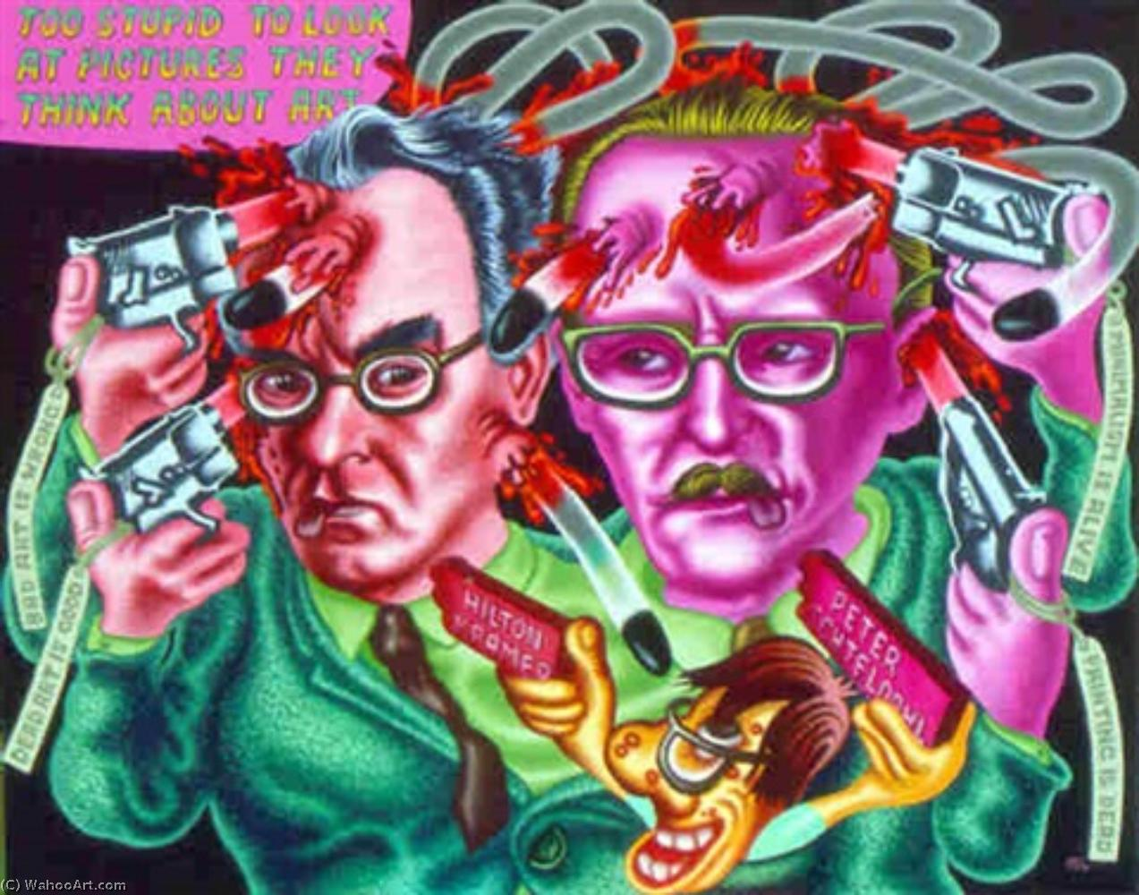 famous painting Art critics suicide of Peter Saul