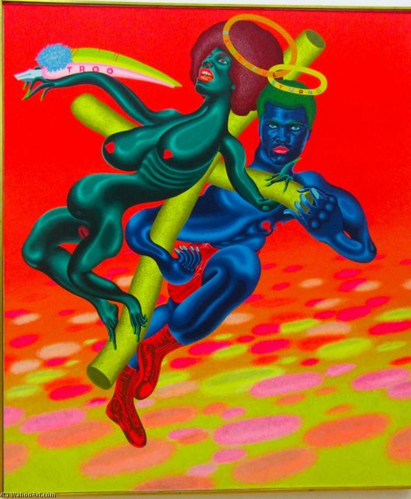 famous painting Bewtiful and Stwong of Peter Saul
