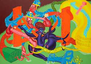 Peter Saul - Homage to Thomas Hart Benton
