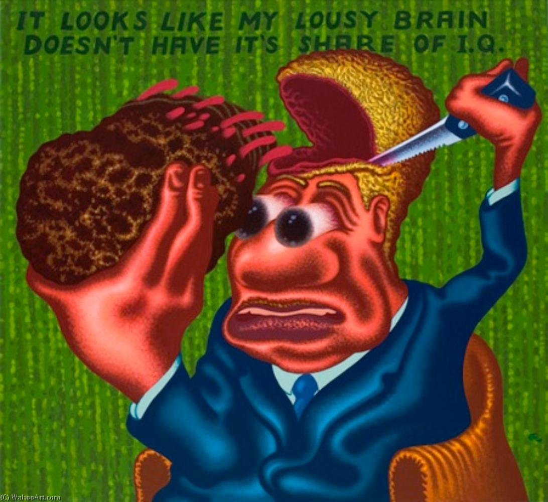 famous painting My lousy brain of Peter Saul