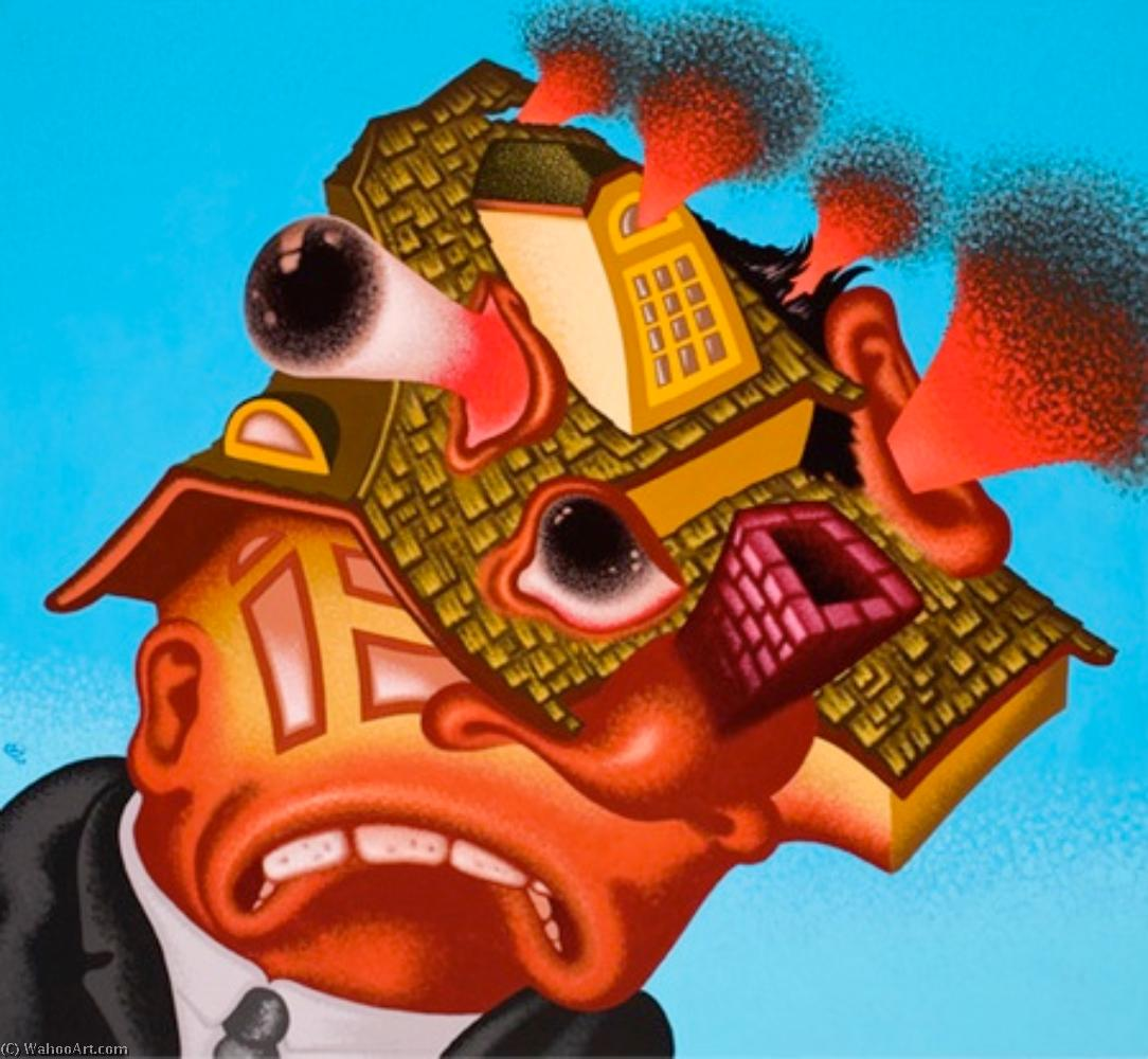 famous painting Real estate agent going crazy of Peter Saul