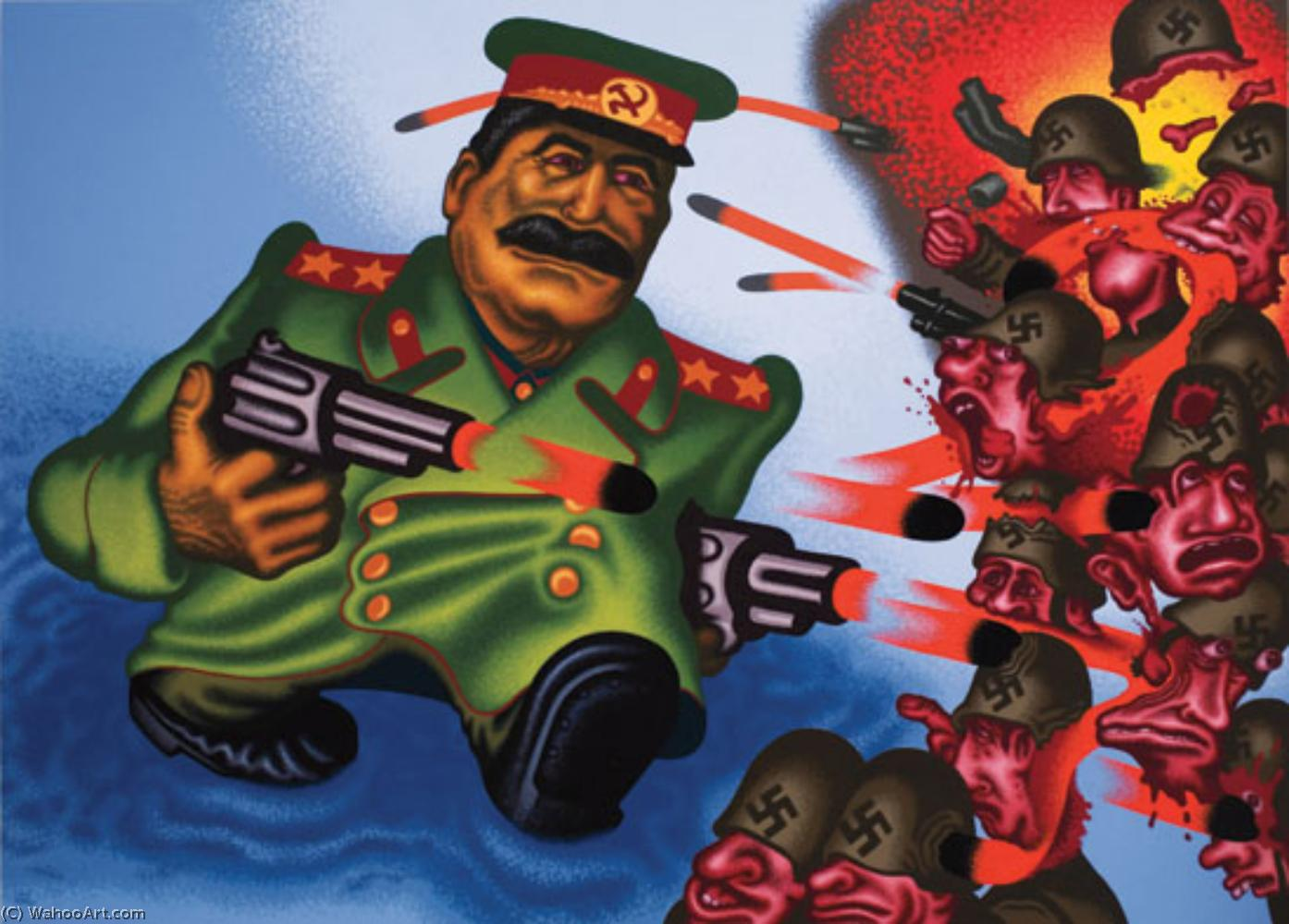 famous painting Stalin of Peter Saul