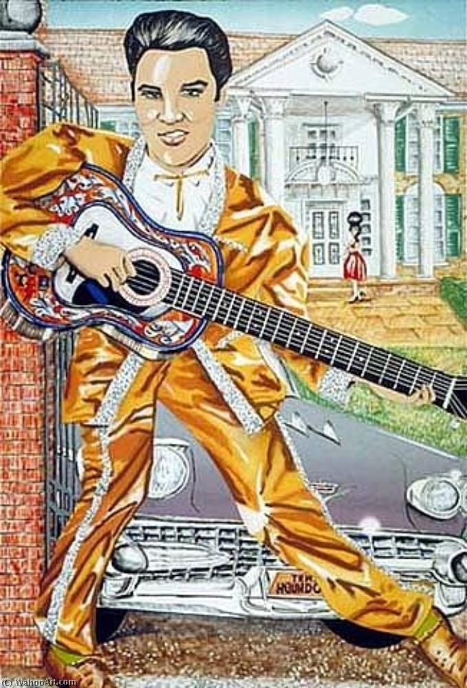 famous painting Elvis of Red Grooms