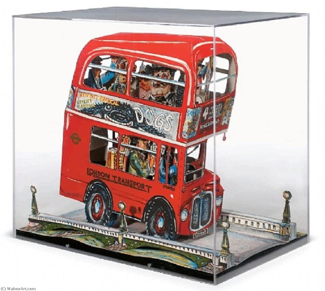 famous painting London bus of Red Grooms