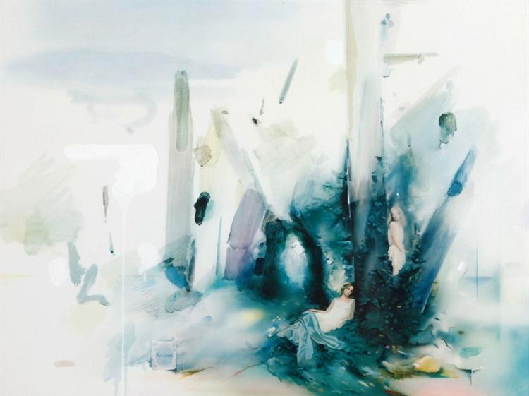 famous painting Soft blue landscape of Richard Hamilton