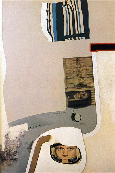 famous painting Towards a definitive statement on the coming trends in men's wear and accessories of Richard Hamilton