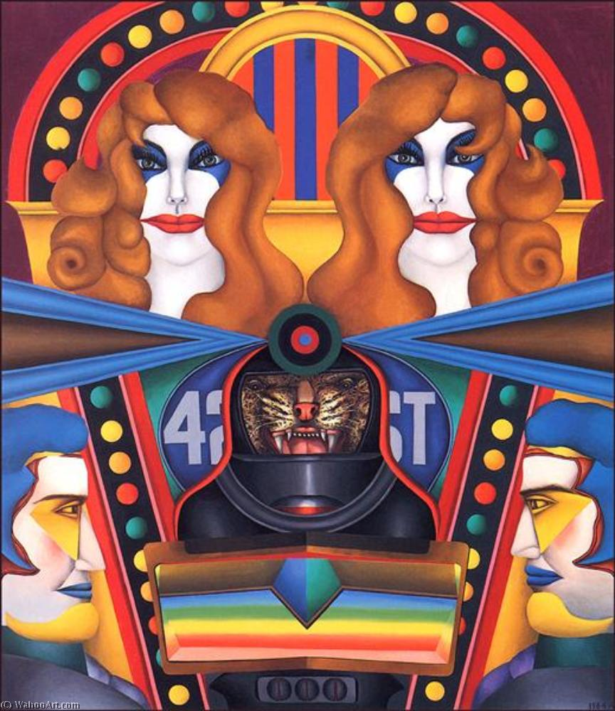 famous painting 42nd street of Richard Lindner