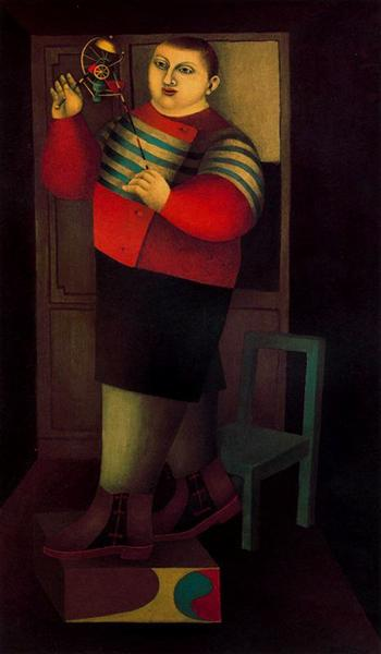 famous painting Boy with machine of Richard Lindner