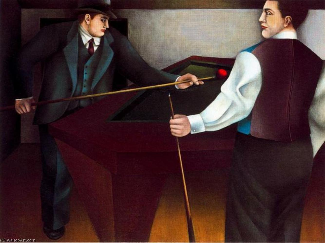famous painting The billiard of Richard Lindner