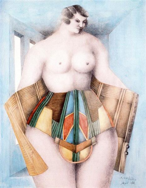famous painting The corset of Richard Lindner