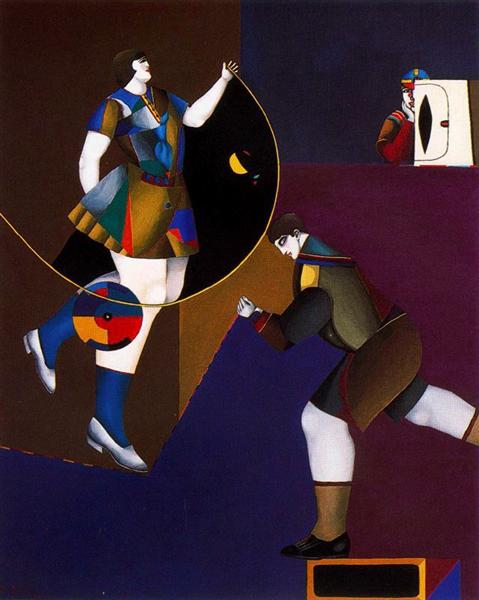 famous painting The secret of Richard Lindner