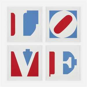 Robert Indiana - Four panel love