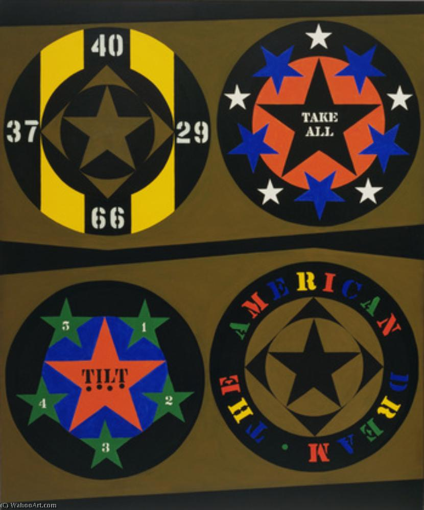 Order Art Reproductions Pop Art : The american dream by Robert Indiana | BuyPopArt.com
