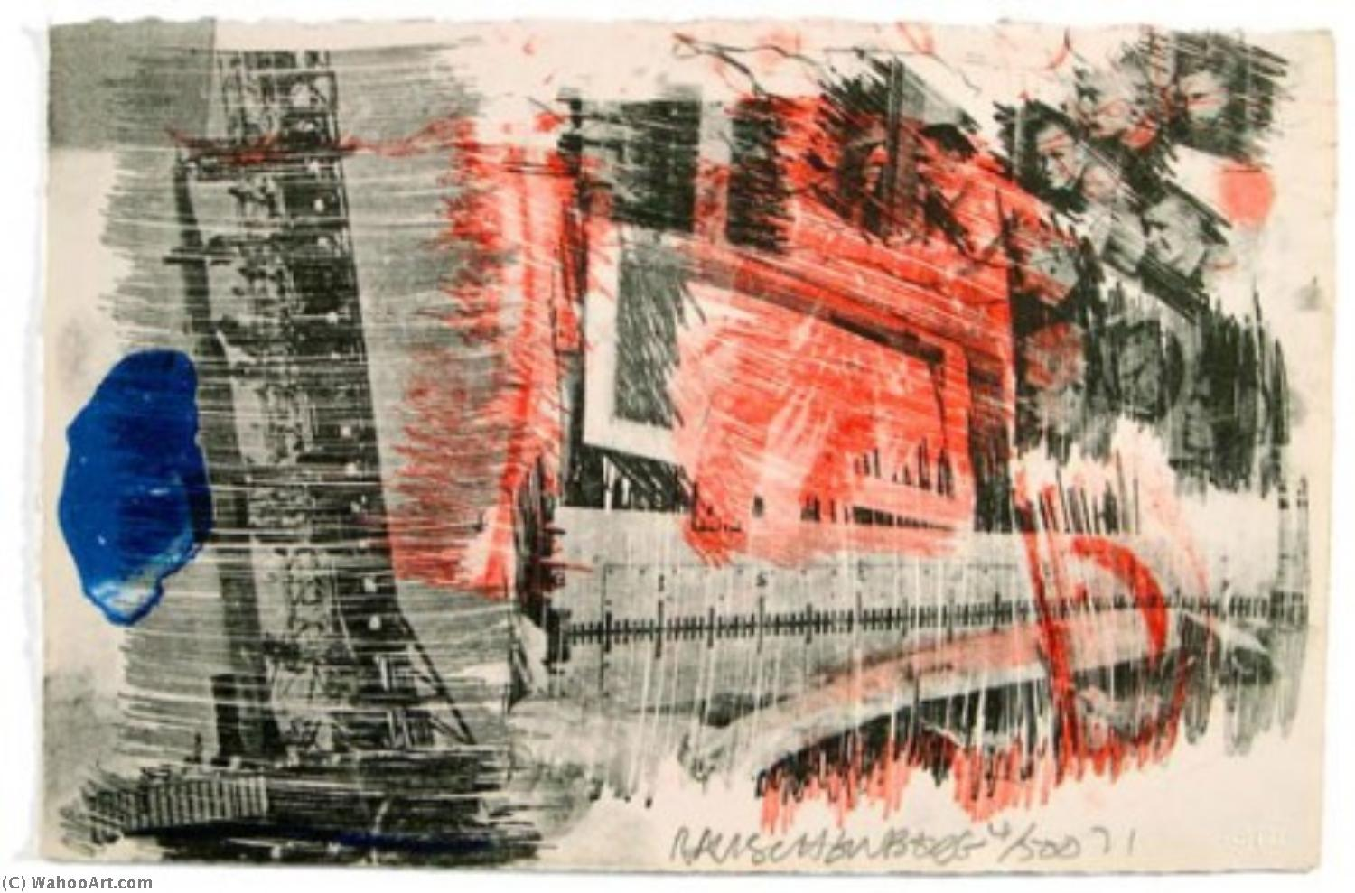 famous painting Subtotal (from Stoned Moon series) of Robert Rauschenberg