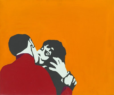 famous painting Kiss me stupid of Rosalyn Drexler