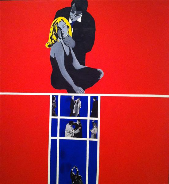 famous painting Love and violence of Rosalyn Drexler