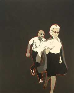Rosalyn Drexler - Marilyn pursued by death