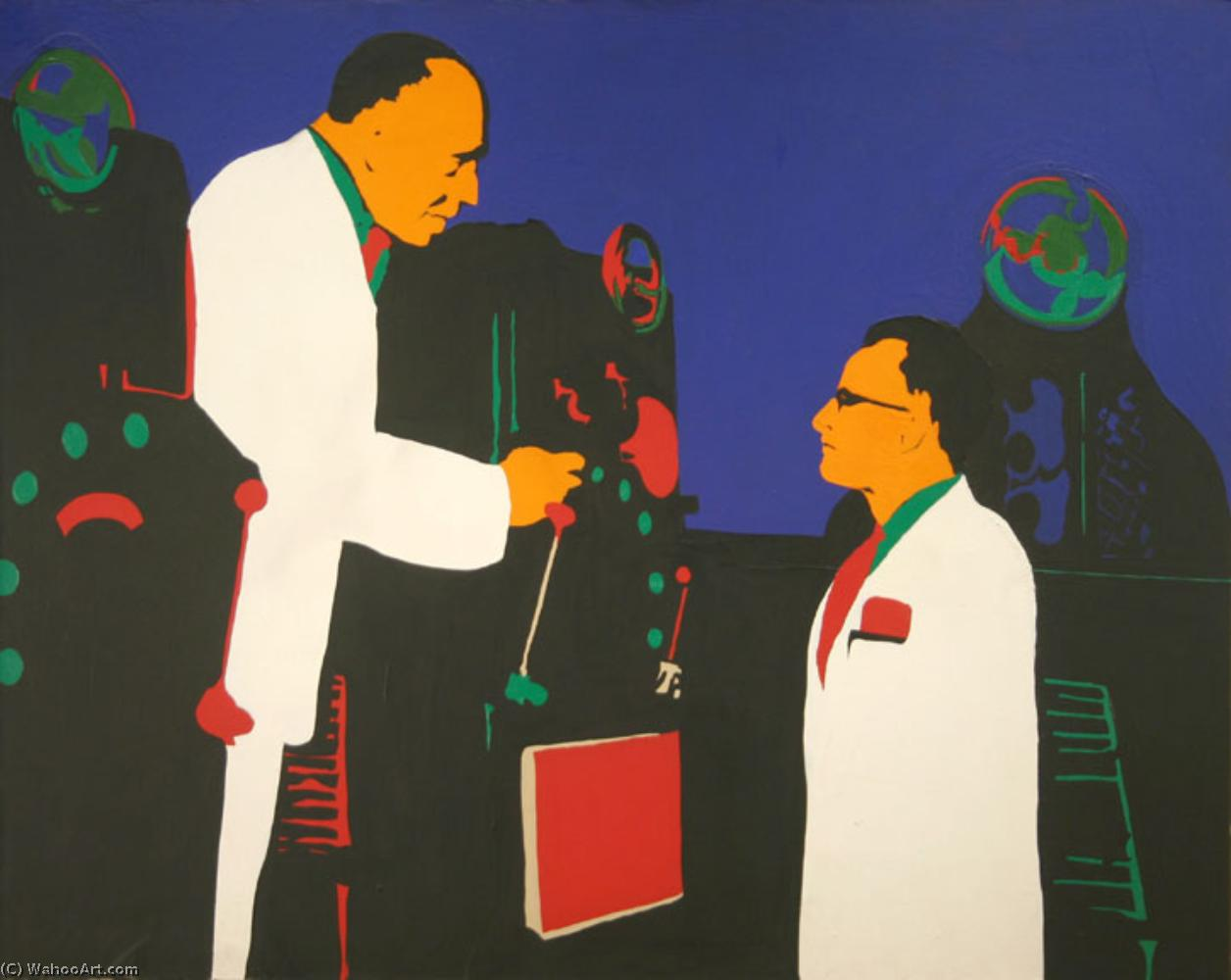 famous painting Men and machines of Rosalyn Drexler