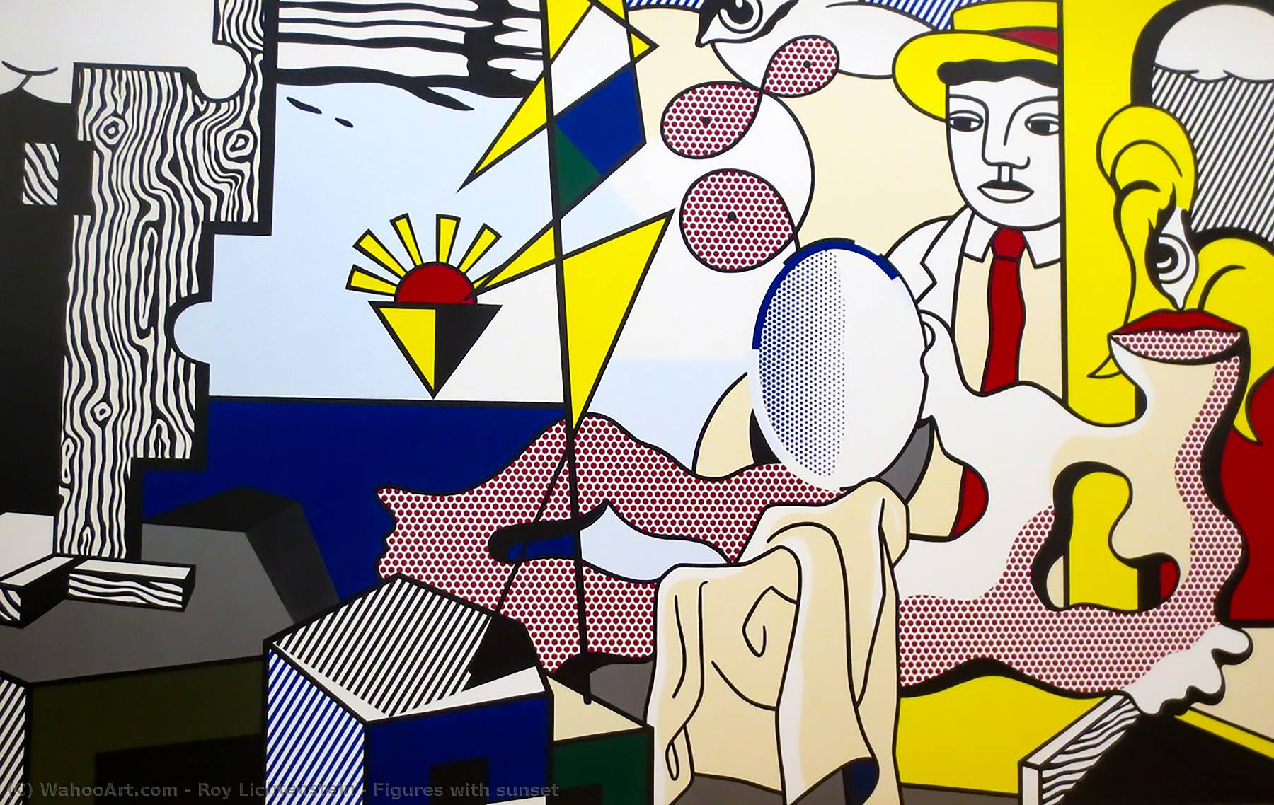 famous painting Figures with sunset of Roy Lichtenstein