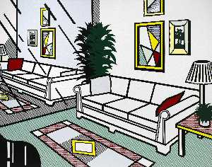 Roy Lichtenstein - Interior with mirrored wall