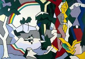 Roy Lichtenstein - Landscape with figures and rainbow