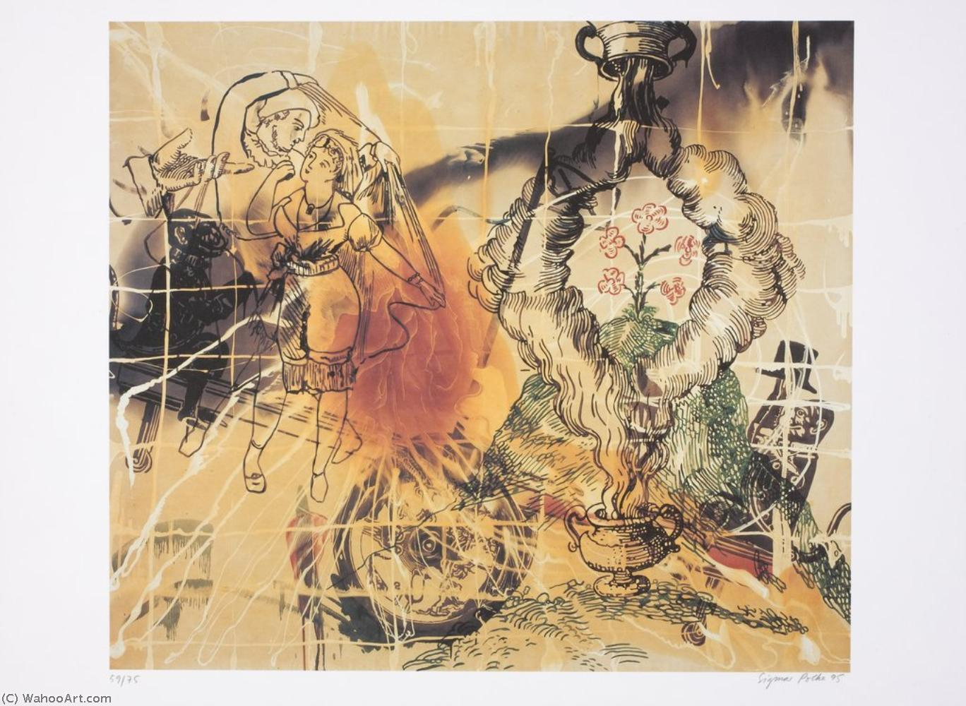 Buy Museum Art Reproductions Pop Art : Affenschaukel by Sigmar Polke | BuyPopArt.com