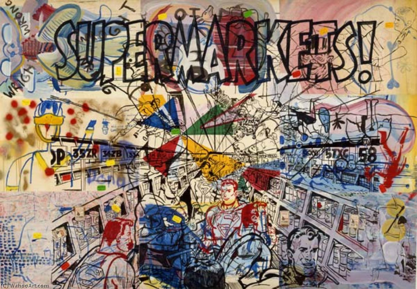famous painting Supermarkets of Sigmar Polke