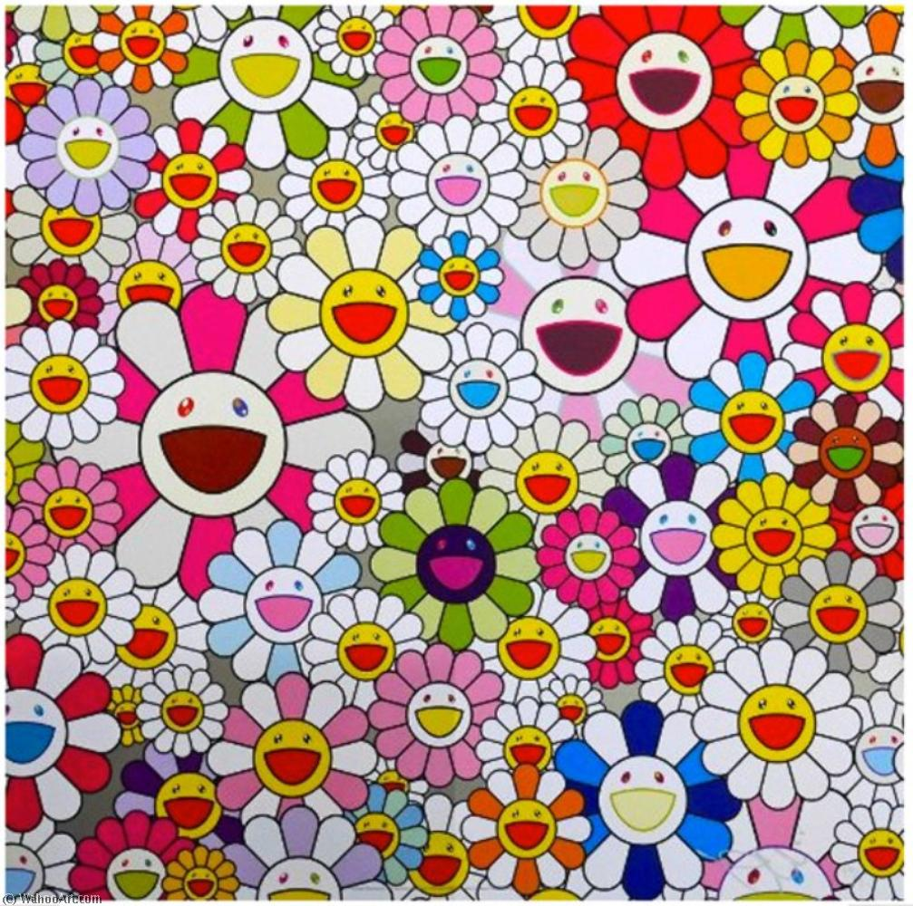 | Flowers blooming in this world and the land of nirvana by Takashi Murakami | BuyPopArt.com