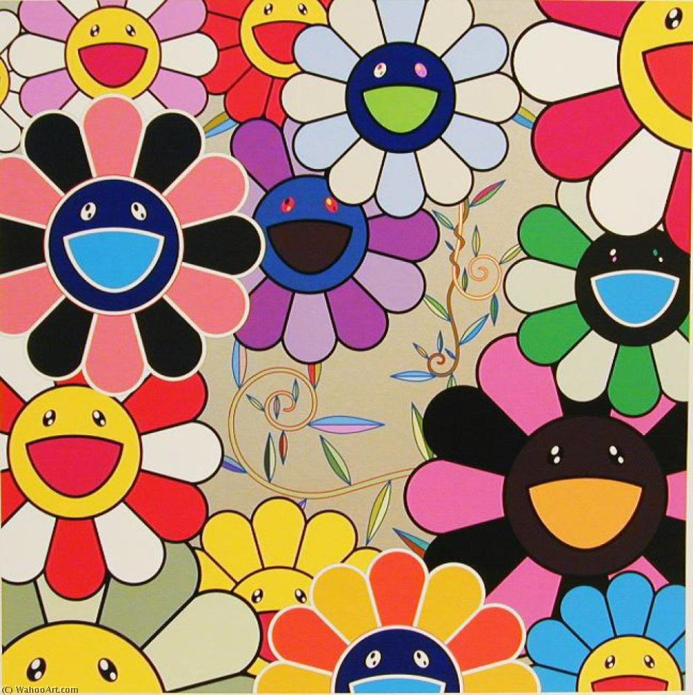 famous painting Killer pink of Takashi Murakami