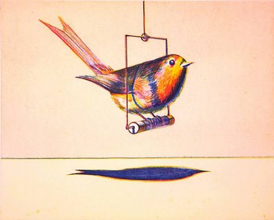 famous painting Bird of Wayne Thiebaud