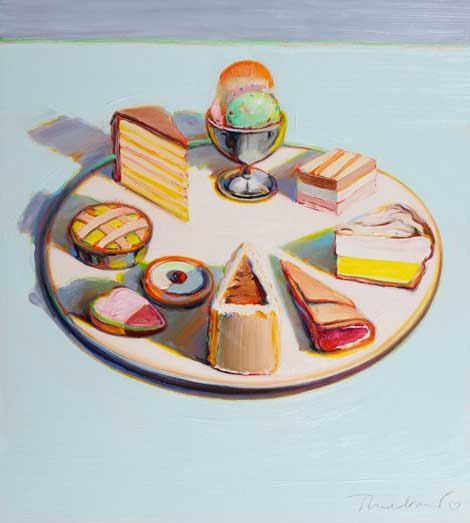 famous painting Dessert circle of Wayne Thiebaud
