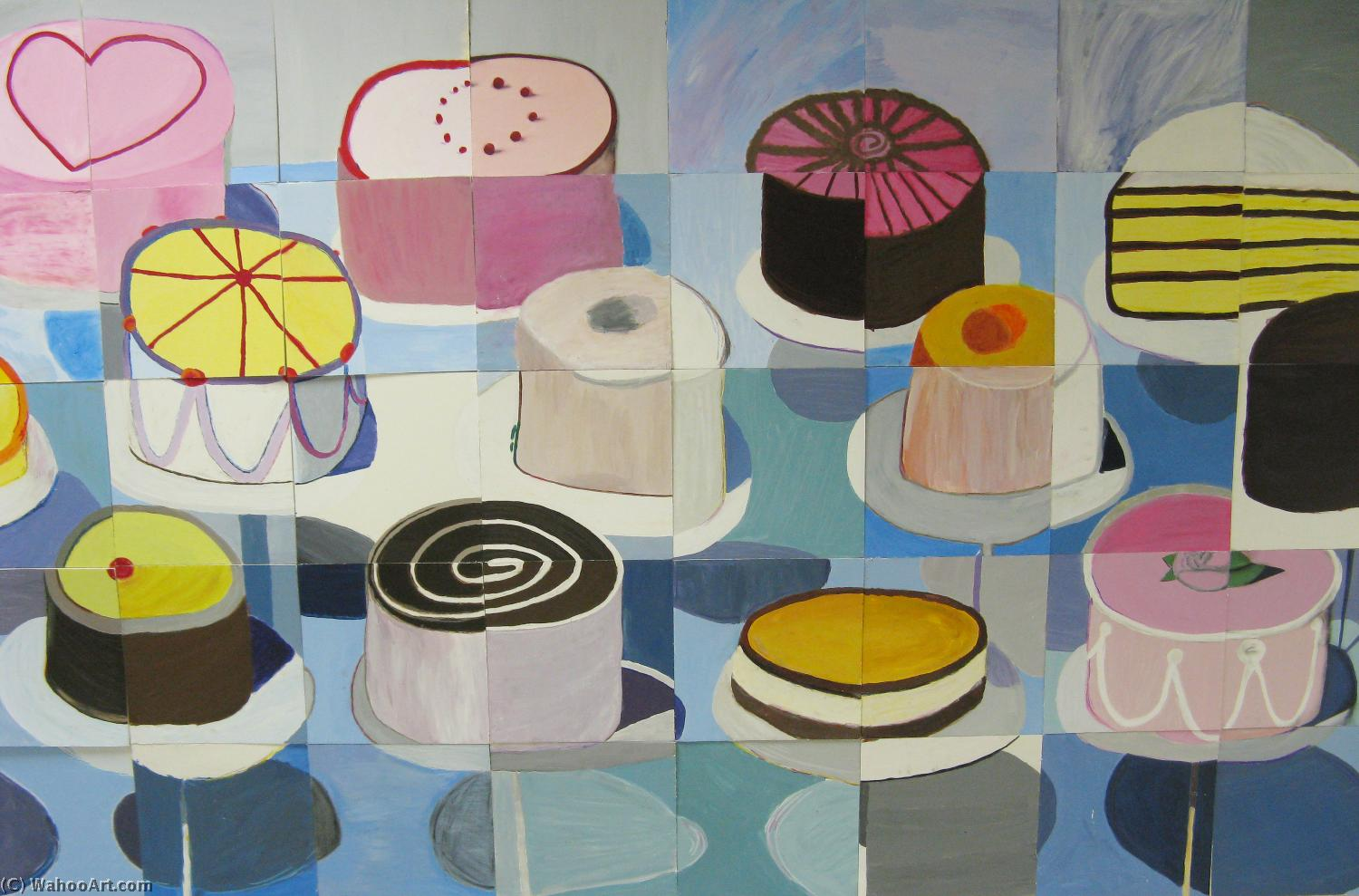 famous painting Fall (2011) of Wayne Thiebaud