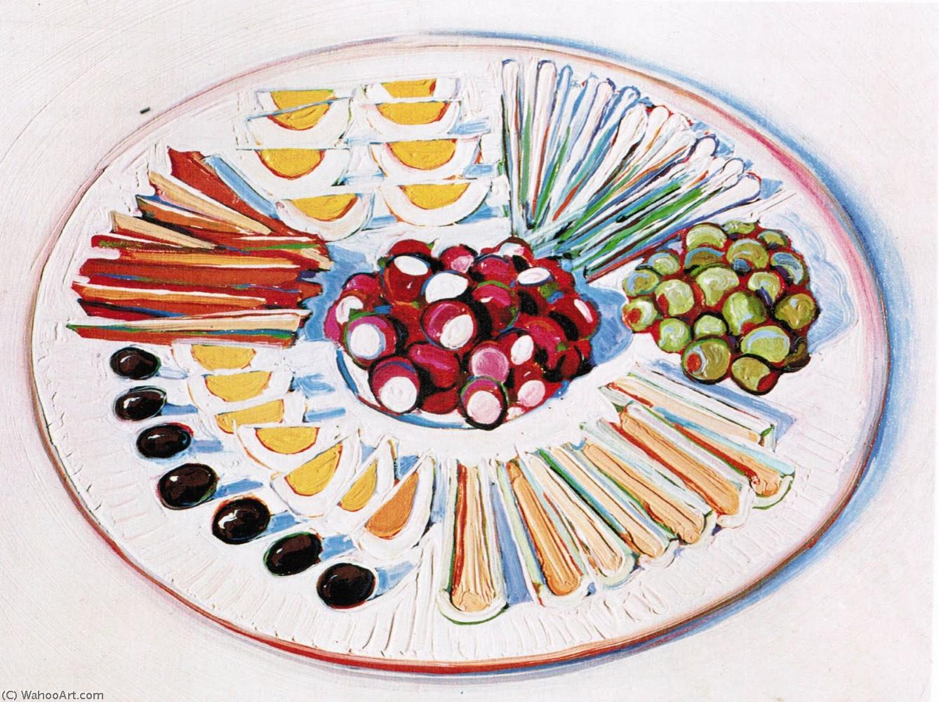 famous painting Plate of hors d oeuvres of Wayne Thiebaud