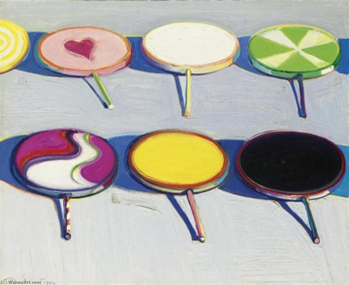 famous painting Seven suckers of Wayne Thiebaud