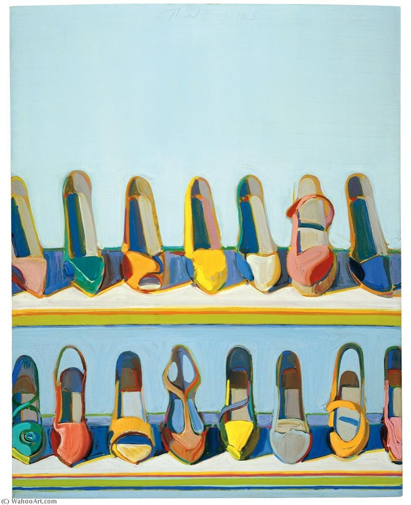 famous painting Shoe rows of Wayne Thiebaud