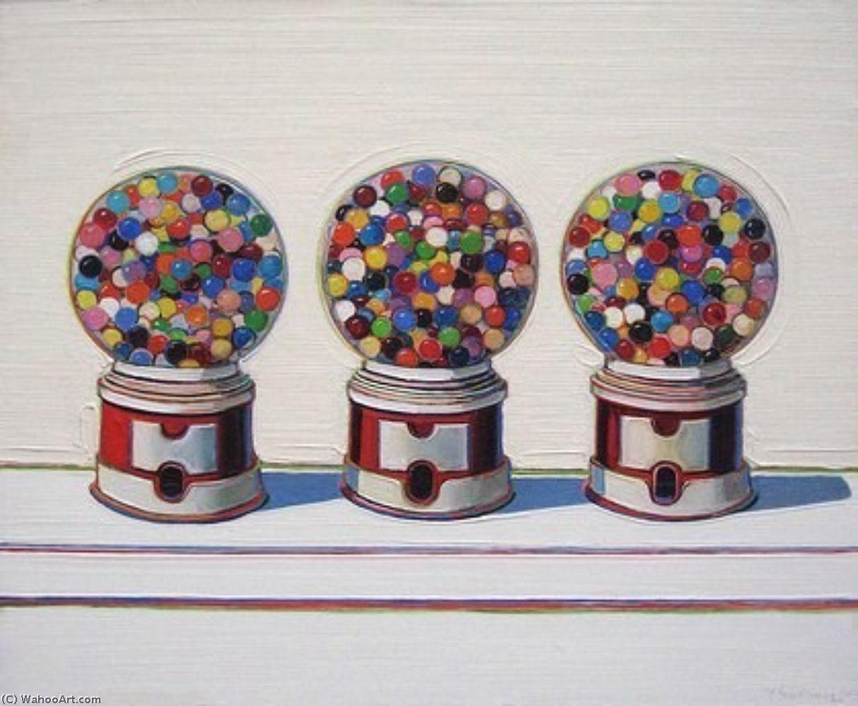 famous painting Three machines of Wayne Thiebaud