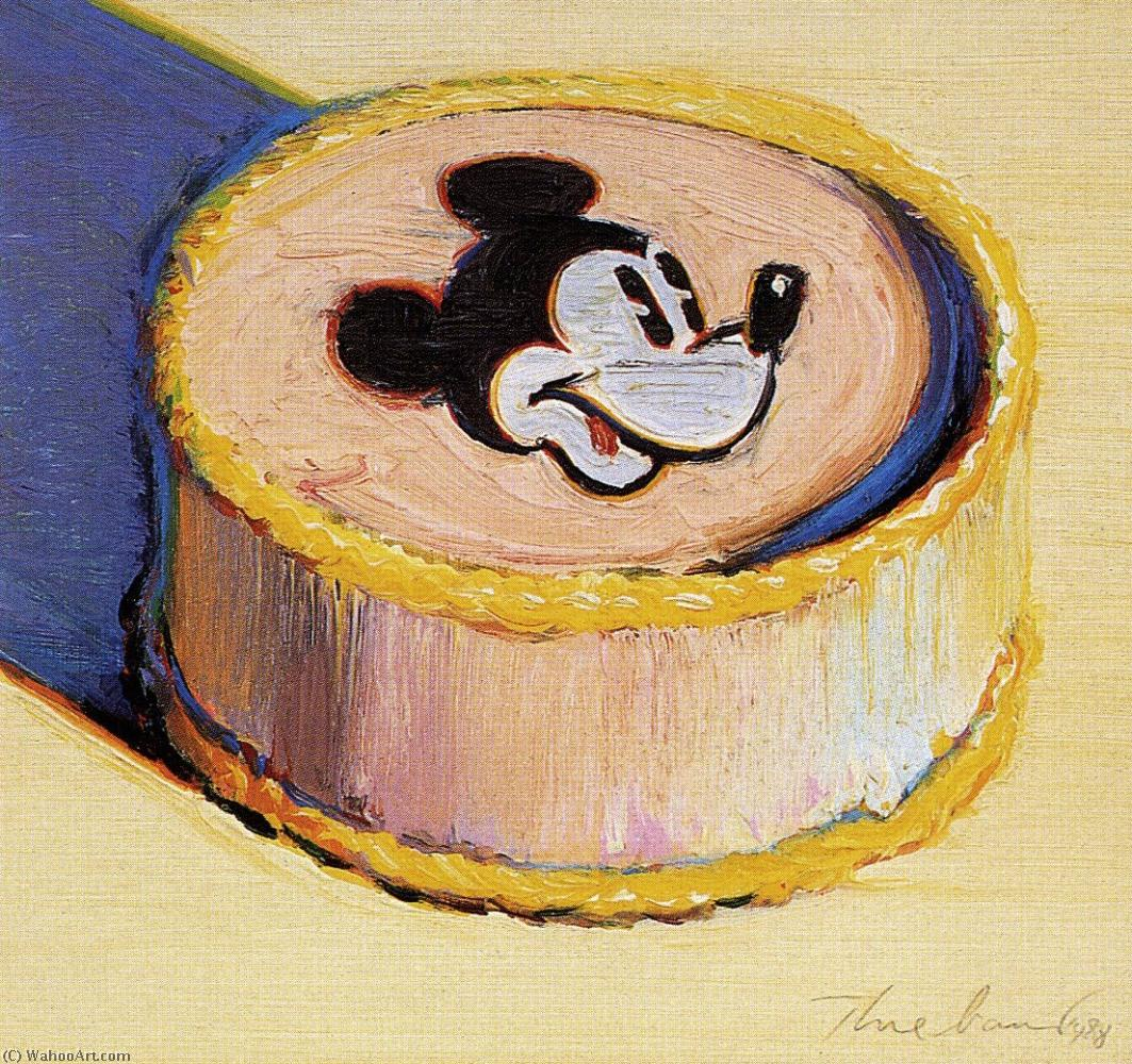 famous painting Yellow mickey mouse cake of Wayne Thiebaud