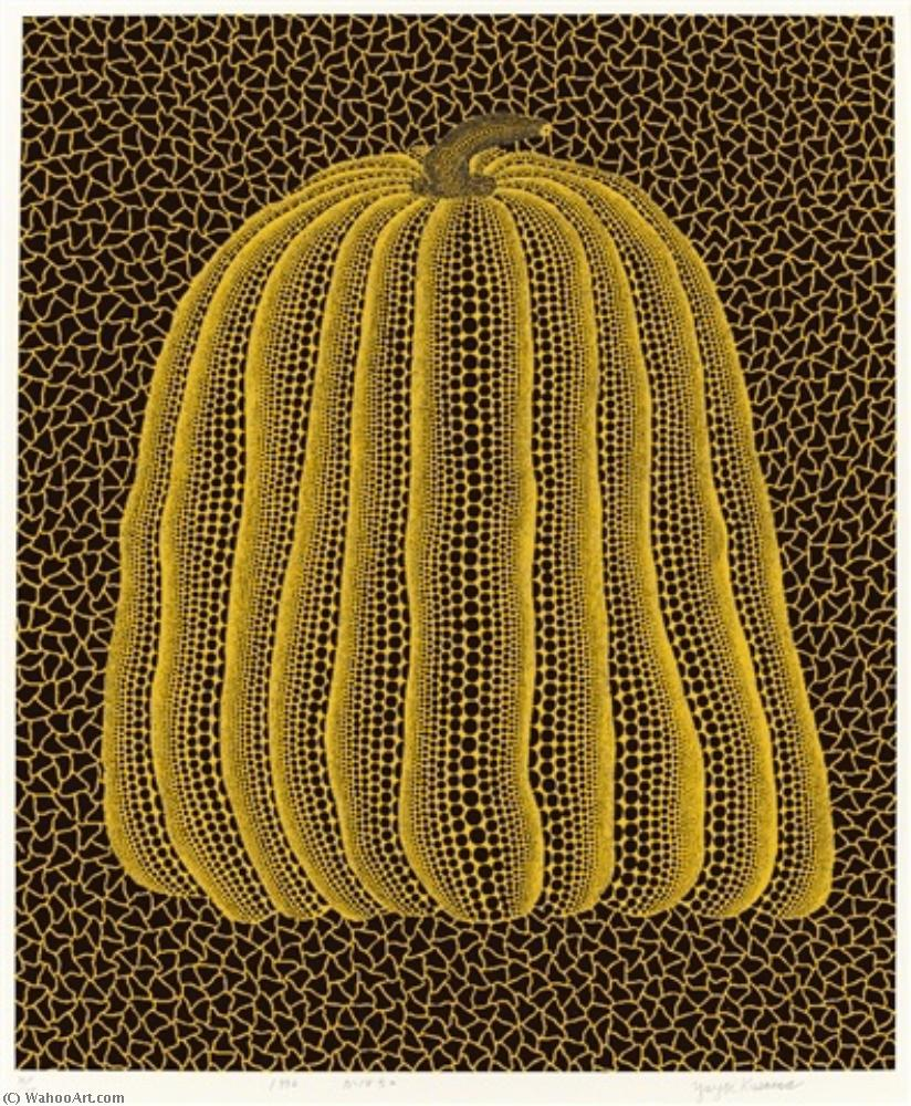 famous painting Yellow pumpkin of Yayoi Kusama