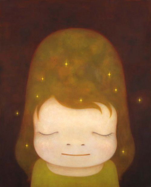 famous painting The little star dweller of Yoshitomo Nara