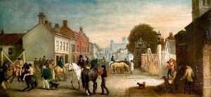 John E Ferneley I - Lincoln High Street, Two Years after the Coming of the Railways