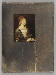 Joseph Cornell - Untitled (unidentified painting of a young man)