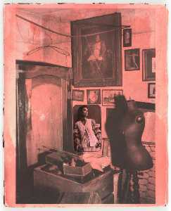 Joseph Cornell - Untitled (Woman in Crocheted Vest, Painting of Napoleon, Dressmaker's Mannequin)
