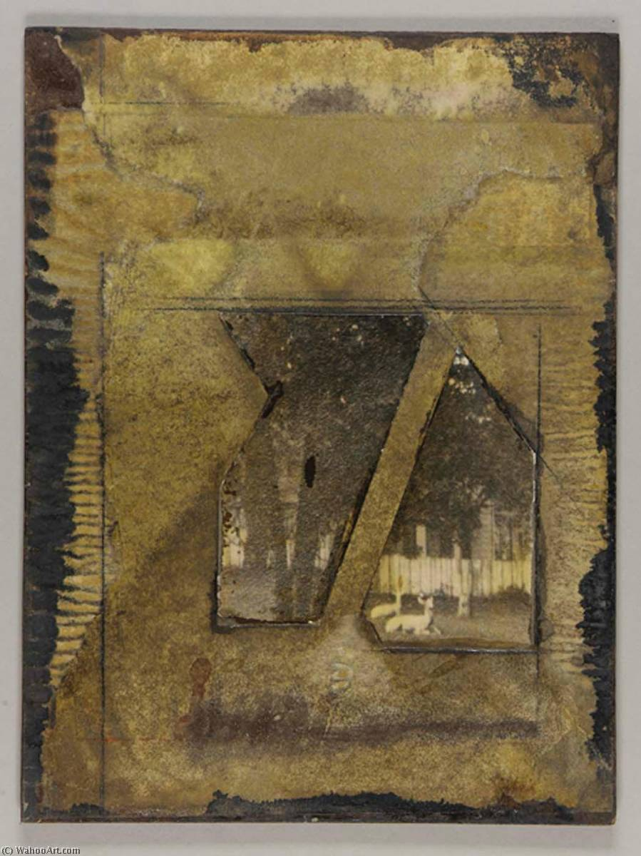 famous painting Untitled (iron deer lawn ornaments) of Joseph Cornell