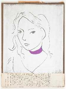 Joseph Cornell - Untitled (black line drawing of female)