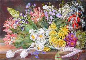 Marianne North - A Medley of Flowers from Table Mountain, Cape of Good Hope