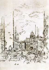 James Abbott Mcneill Whistler - La Piazzetta