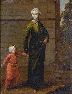 Jean Baptiste Vanmour - A Young Turkish Woman and her Child