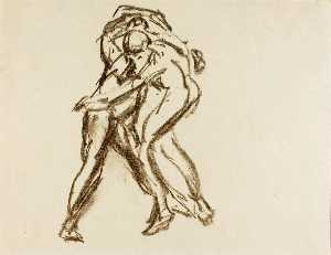 Alfred Henry Maurer - Two Figures in Action